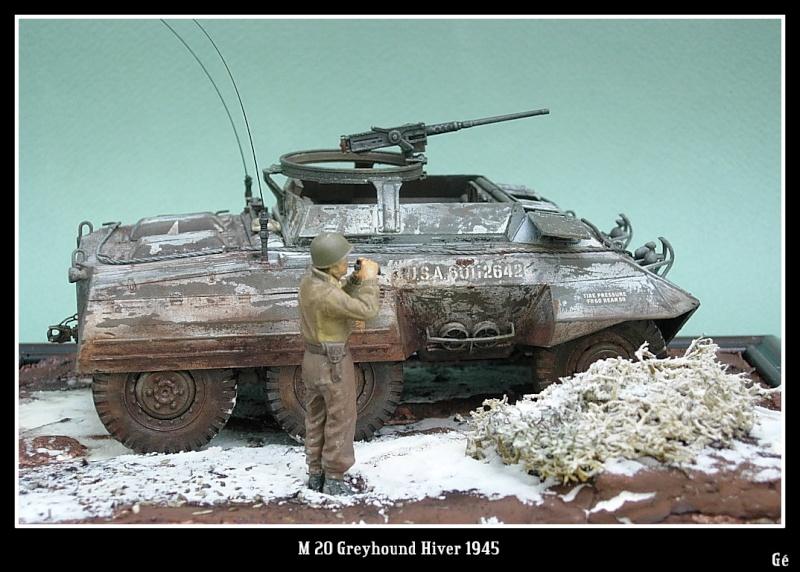 M 20 Greyhound 1/35 Tamiya hiver 1945 Dscn0025