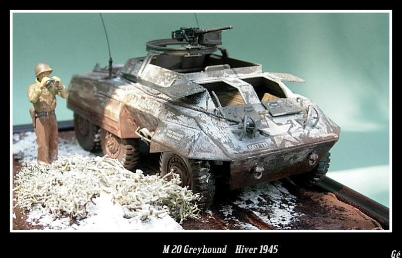M 20 Greyhound 1/35 Tamiya hiver 1945 Dscn0026