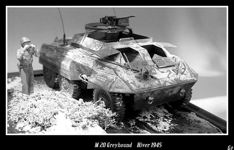 M 20 Greyhound 1/35 Tamiya hiver 1945 Dscn0029