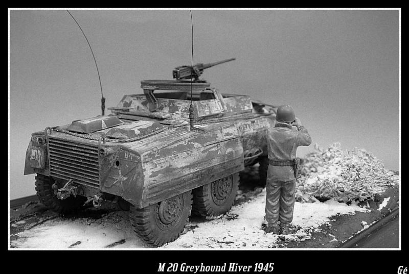 M 20 Greyhound 1/35 Tamiya hiver 1945 Dscn0030