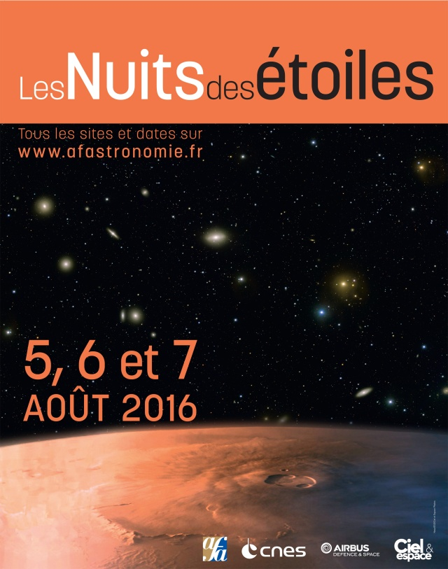 NUIT DES ETOILES vendredi 5 août 2016 à Floirac Affich10