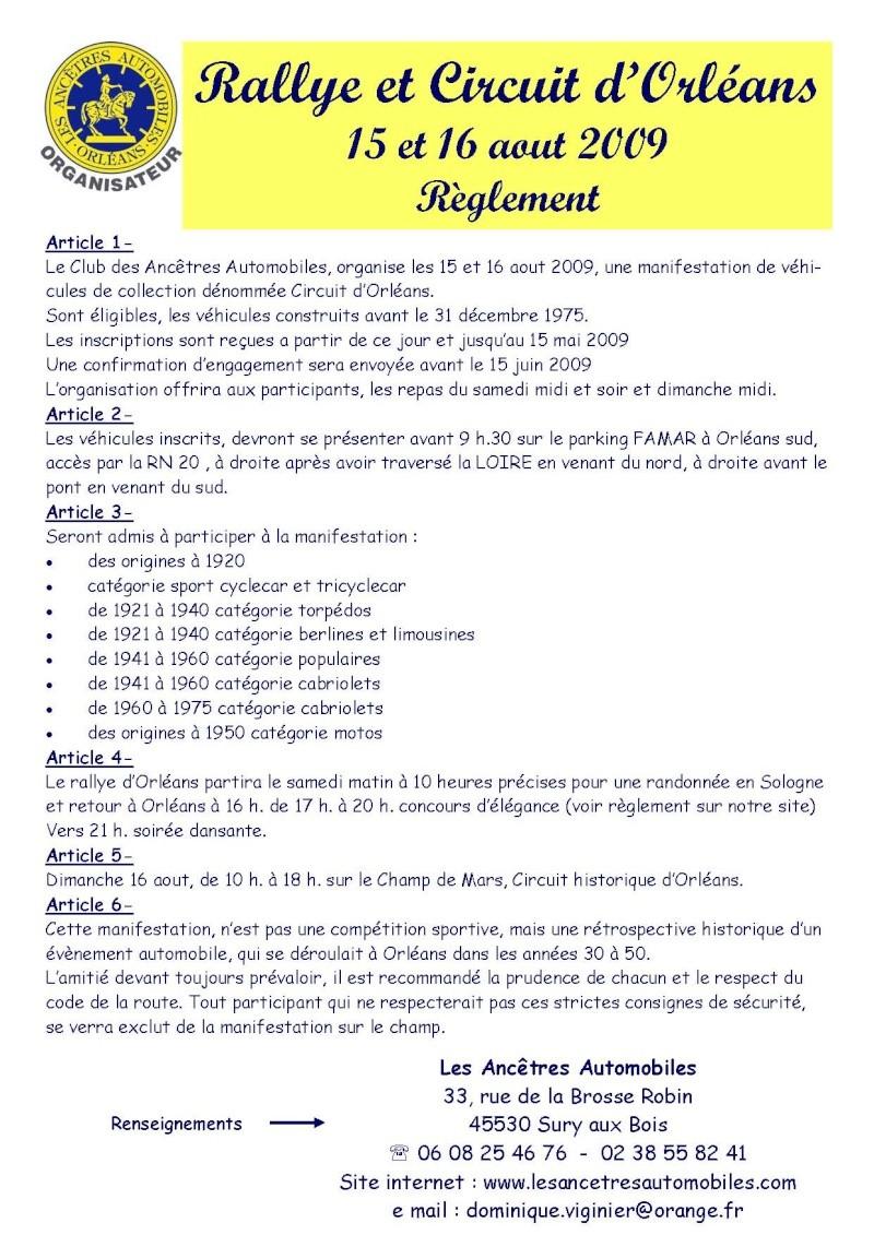 Circuit Historique d'Orléans  15-16 aout 2009 Reglem11