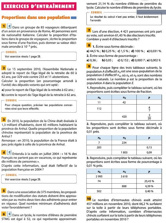 Pages du livre concernant la seconde leçon Page3510