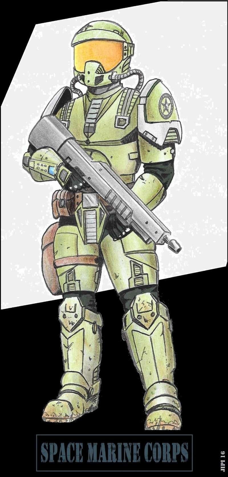 SPACE MARINES (dessins) Space_13
