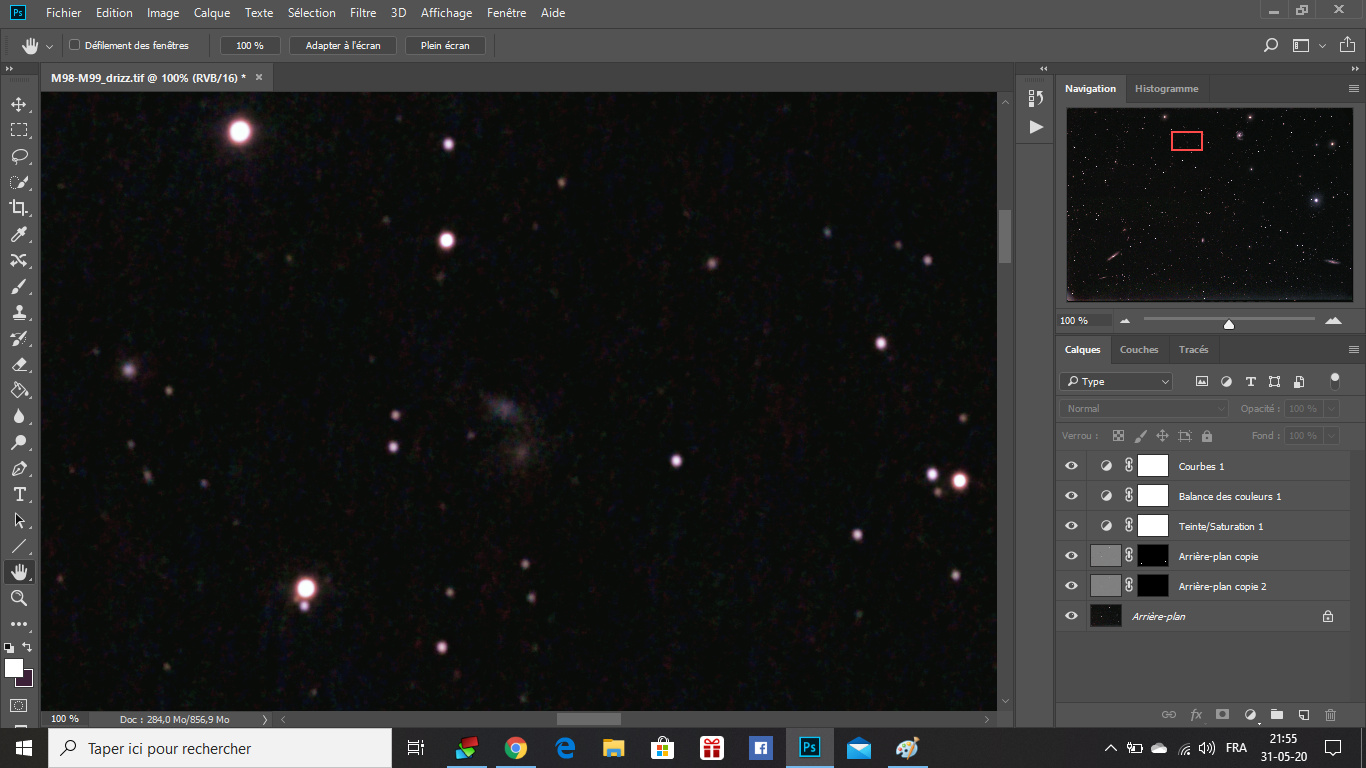 M98, M99 et la Galaxie de la traînée d'argent Galaxi10