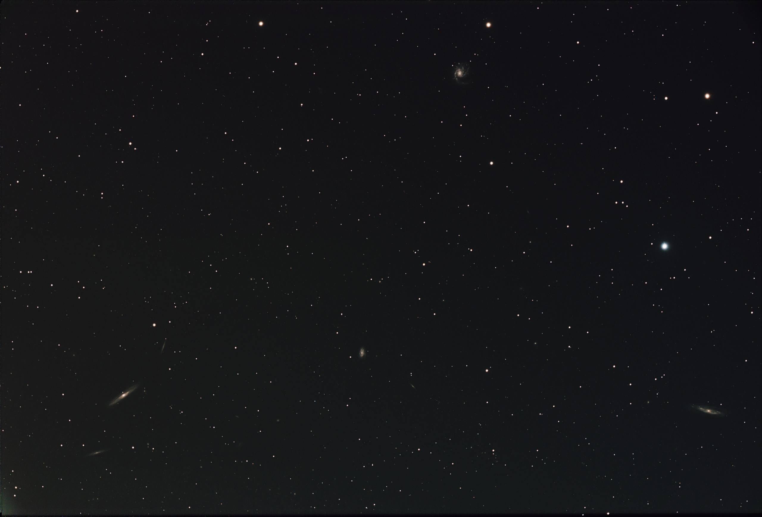 M98, M99 et la Galaxie de la traînée d'argent M98-m911