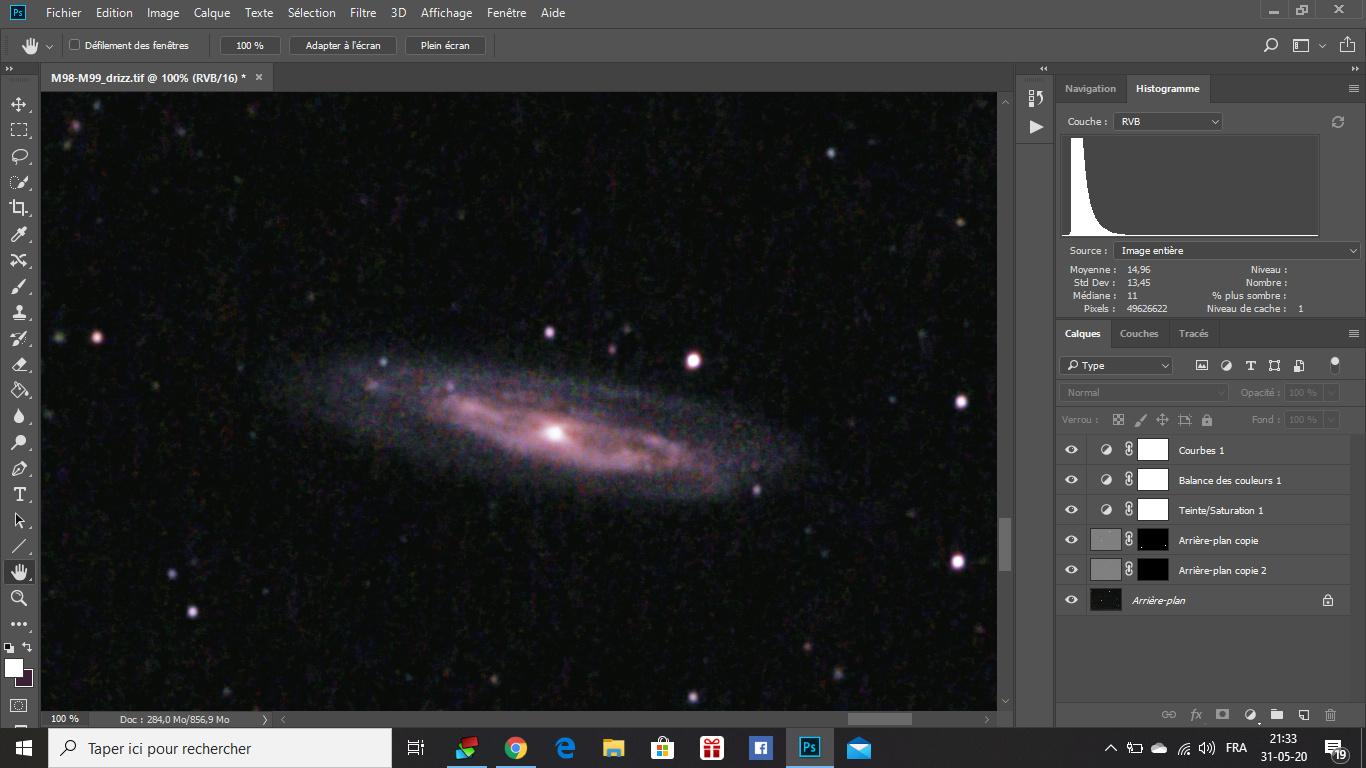 M98, M99 et la Galaxie de la traînée d'argent M9810