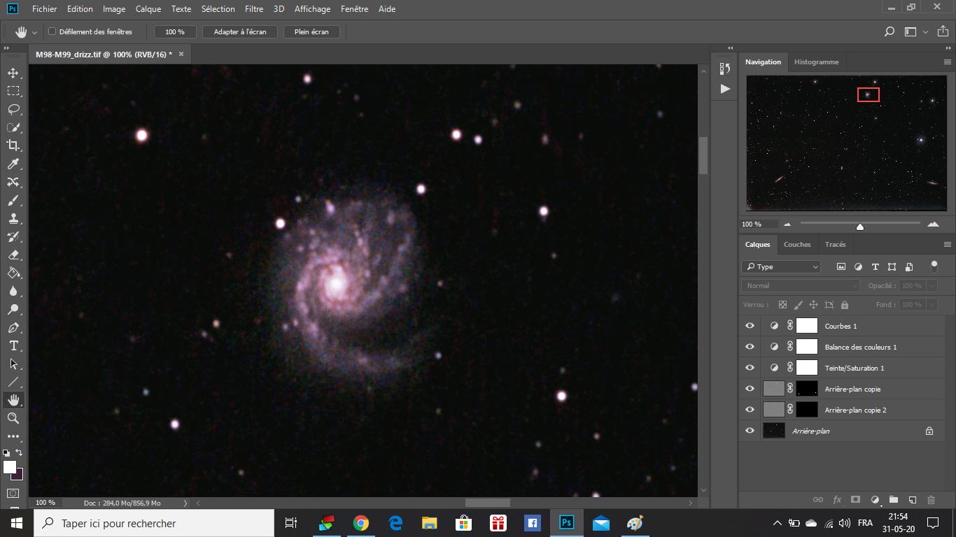 M98, M99 et la Galaxie de la traînée d'argent M9912
