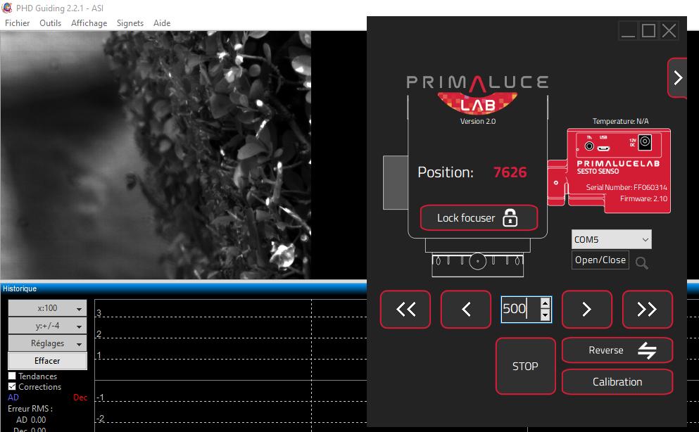 Impression 3D pour le Mak180 et le focuser Sesto Senso Test110