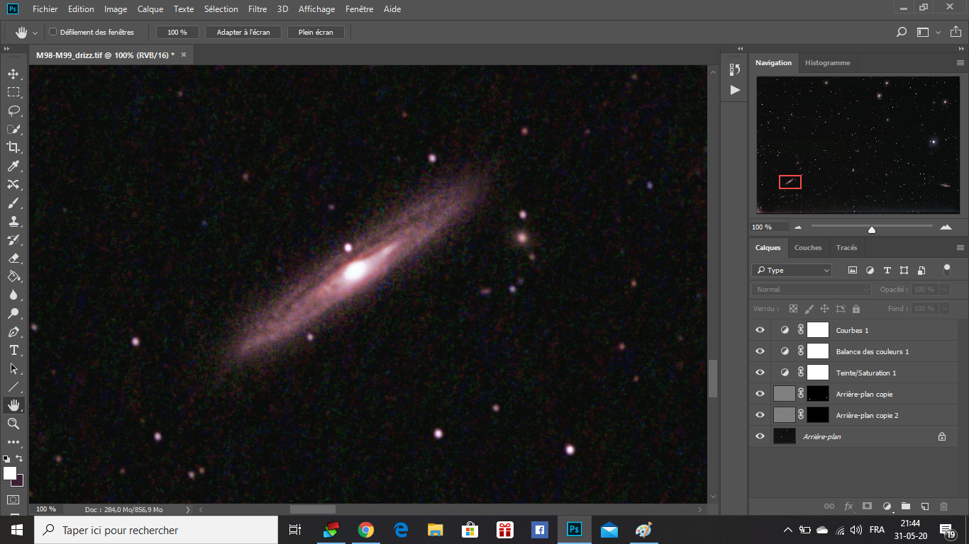 M98, M99 et la Galaxie de la traînée d'argent Traine11