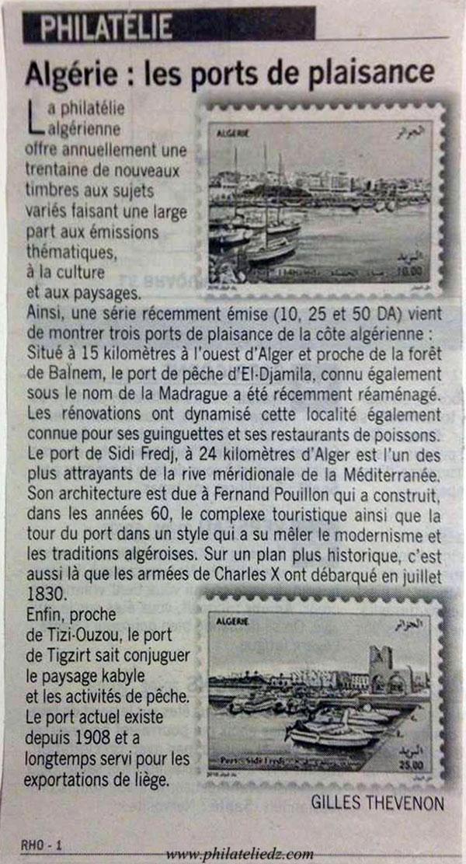 Article : Algérie - Les ports de plaisance Articl10