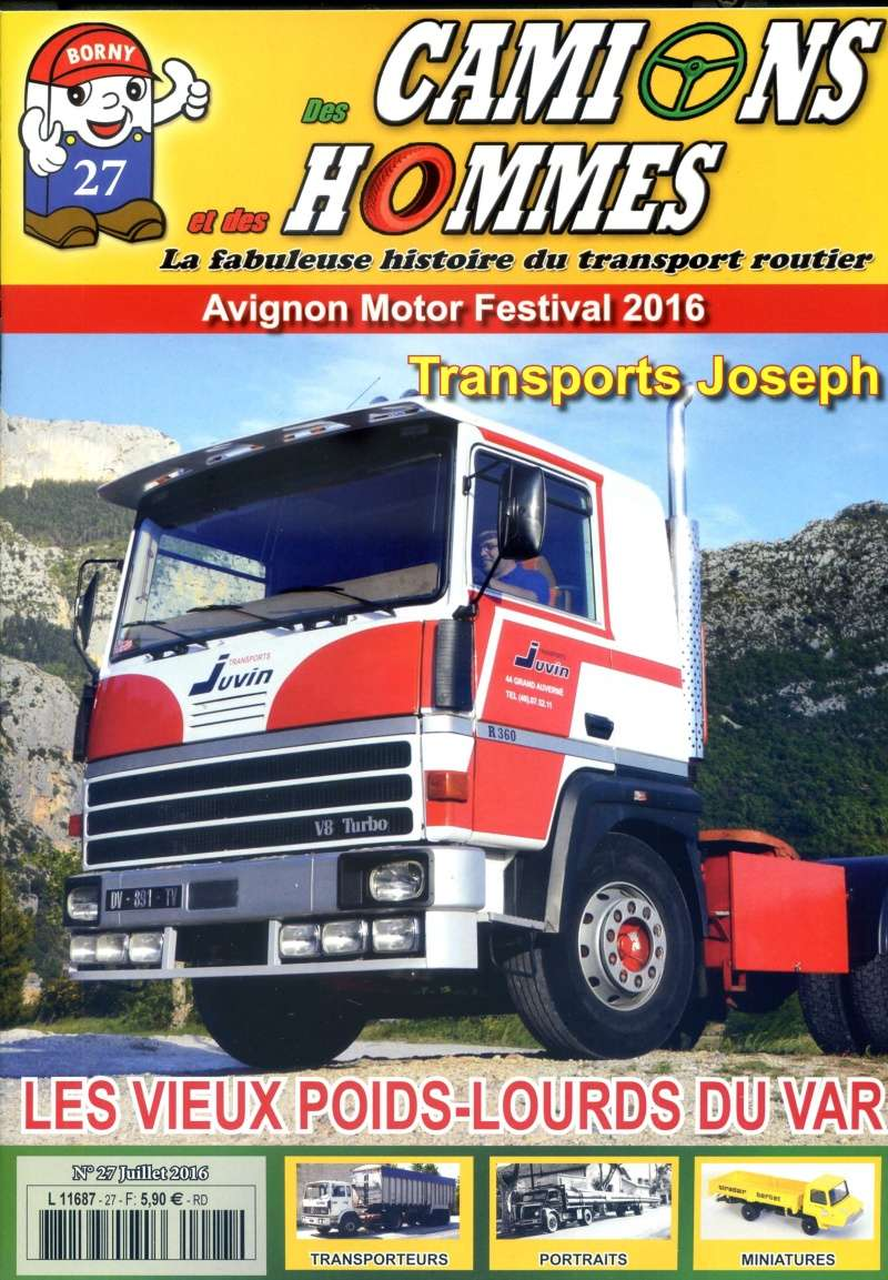le numéro 27 du magazine Des Camions et des hommes en kiosque jeudi 30 Juin !! Couver10