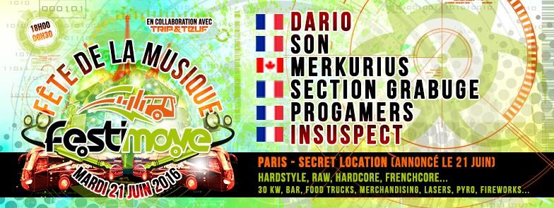 FETE DE LA MUSIQUE 2016 by FESTIMOVE - MARDI 21 JUIN 2016 - PARIS Banner10