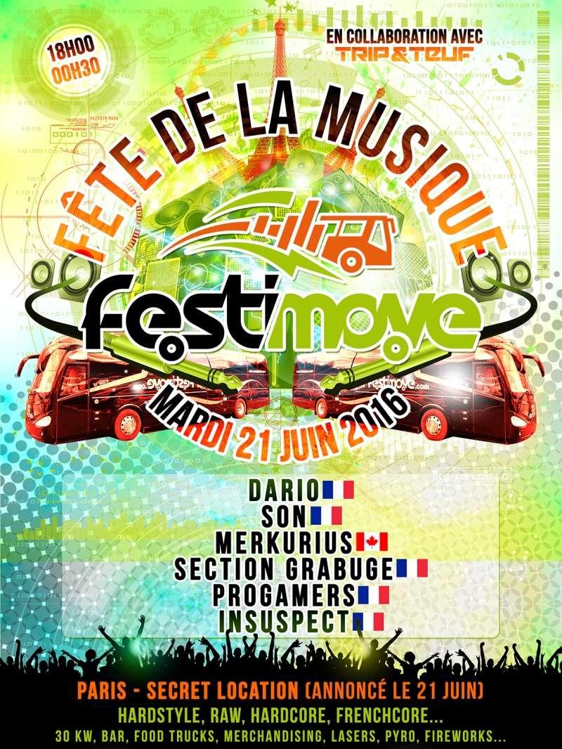 FETE DE LA MUSIQUE 2016 by FESTIMOVE - MARDI 21 JUIN 2016 - PARIS Flyer-10