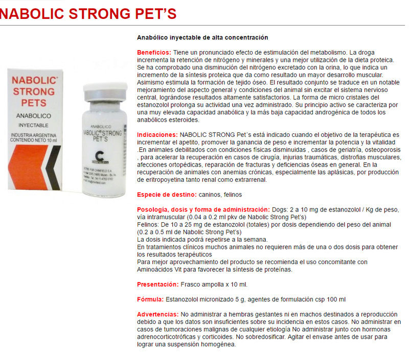 NABOLIC STRONG PET $ 20.000 FRASCO 10 ML Naboli10