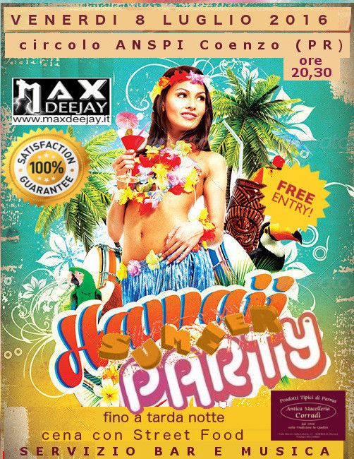 FESTA HAWAIANA 8 LUGLIO A COENZO (PR) By MAX TESTA Hawaii10