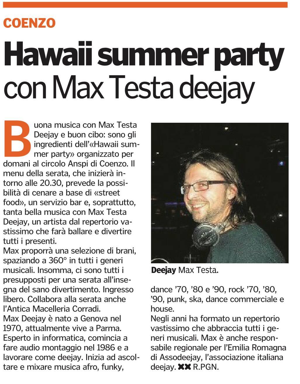 FESTA HAWAIANA 8 LUGLIO A COENZO (PR) By MAX TESTA Hawaii11