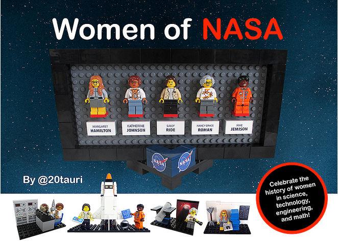 Quatre figurines Lego pour rendre hommage aux femmes de la NASA Lego_n10