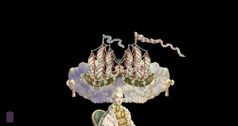 Amusement : Création d'une perruque à la mode du XVIIIè siècle Canvas11