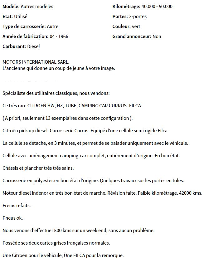 PUB  FILCA FRANCE (H CURRUS) 1410