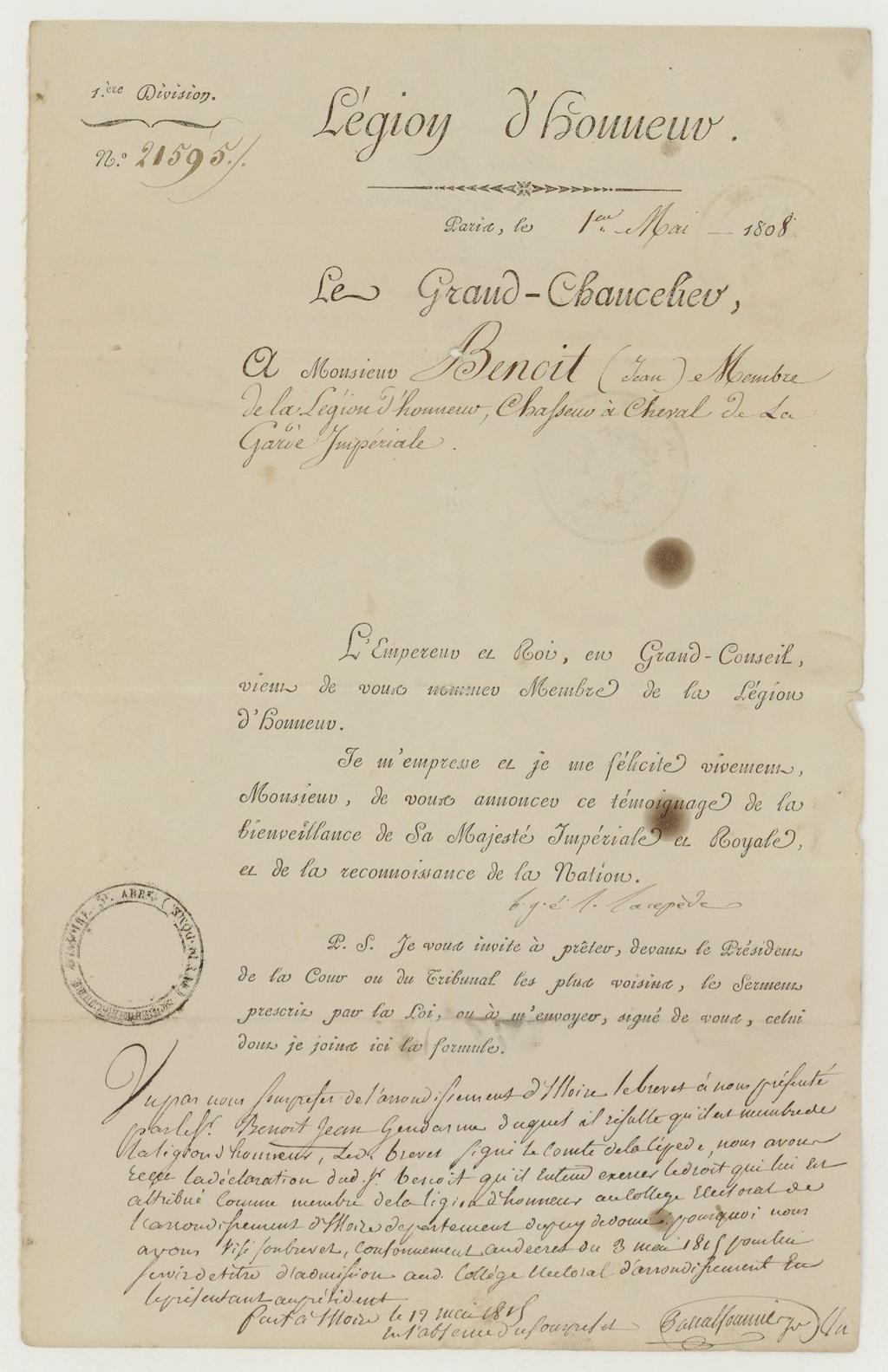 Ensemble gendarme impérial (1er Empire / Restauration) Frdafa15