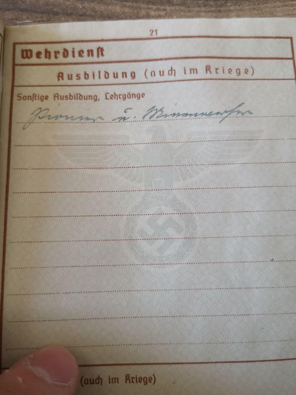 Identif Wehrpass & Arbeitsbuch (Strasbourg) Photo_28