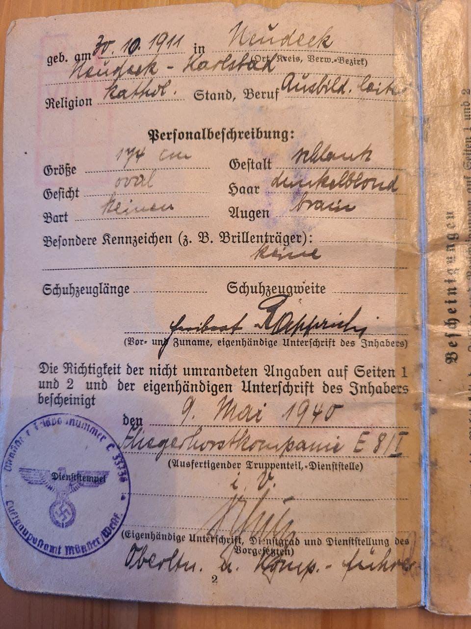[Besoin d'informations] Soldbuch Luftwaffe Nachtjagdgeschwader 5 Photo_63