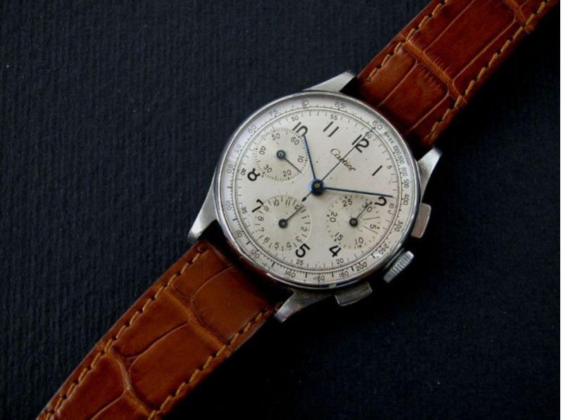 Un chrono Lecoultre signé Cartier Sss10