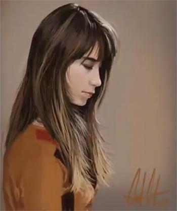 Portrait d'après photo de Carlos Carreño Fdfg10