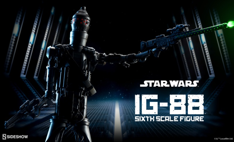 Sideshow Collectibles - IG-88 Sixth Scale Figure  Ig8810