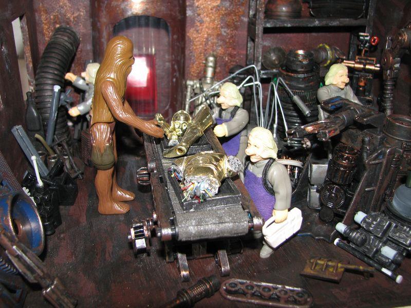 "Making of diorama ""La fonderie de Bespin"" star wars vintage 09_set10"