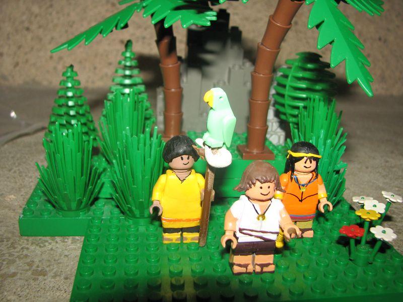 Customs lego  personnages de DA 80's de Fabax 111