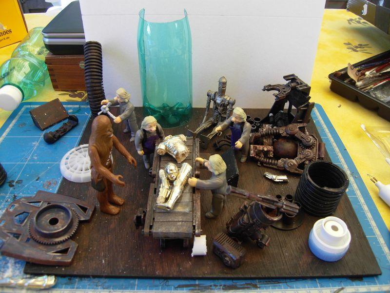 "Making of diorama ""La fonderie de Bespin"" star wars vintage 112"