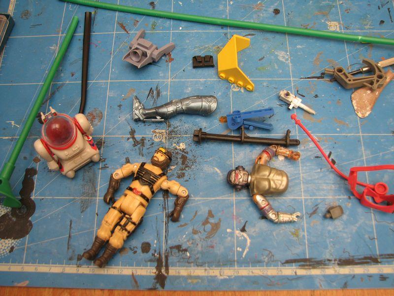 "Making of diorama ""La fonderie de Bespin"" star wars vintage 15_sep10"