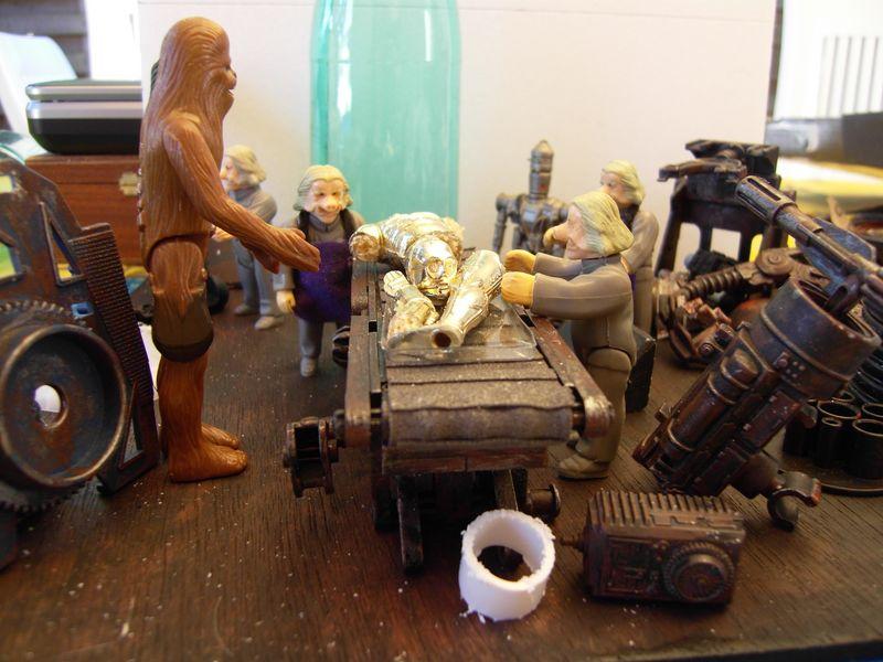 "Making of diorama ""La fonderie de Bespin"" star wars vintage 213"