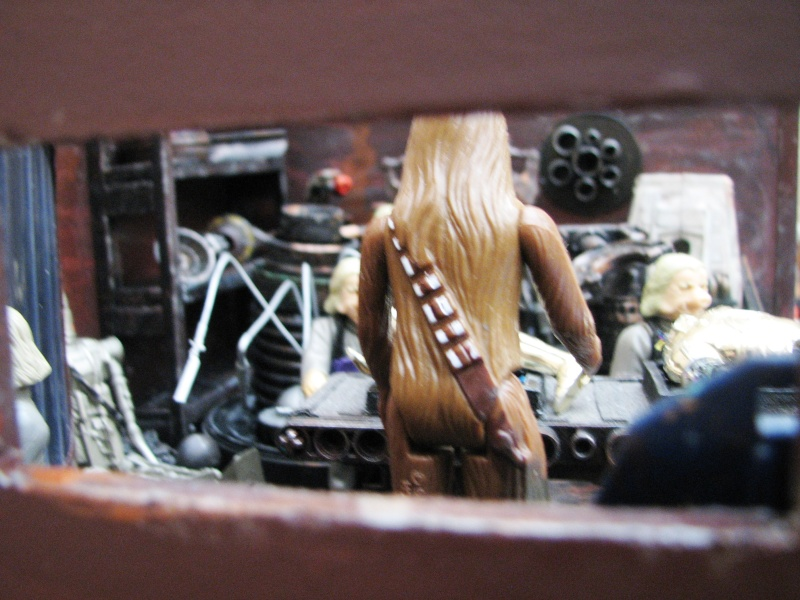"Making of diorama ""La fonderie de Bespin"" star wars vintage 711"