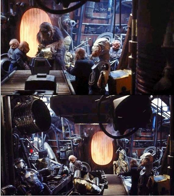 "Making of diorama ""La fonderie de Bespin"" star wars vintage Captur10"