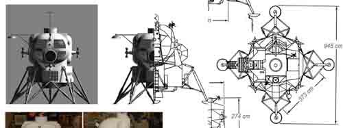 Lunar Excursion Module – Grumman – 1962 – 1/48éme par Tezio 0310