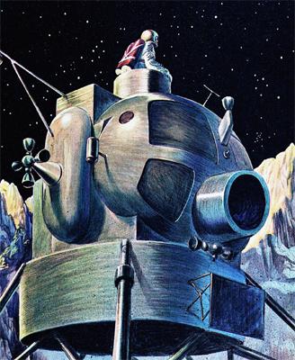Lunar Excursion Module – Grumman – 1962 – 1/48éme par Tezio 10110