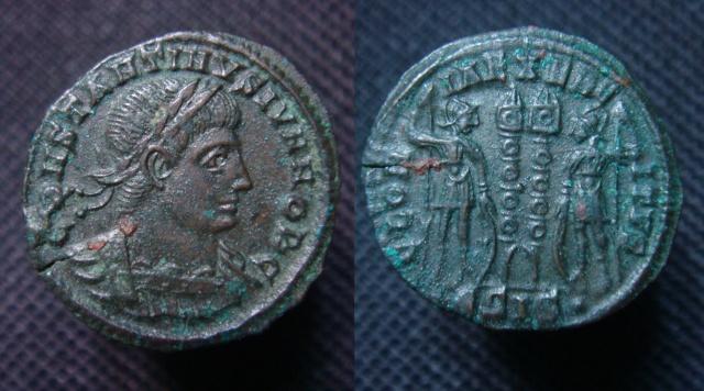 Ae3 de Constantin II (comme César) à vendre Ae_num11