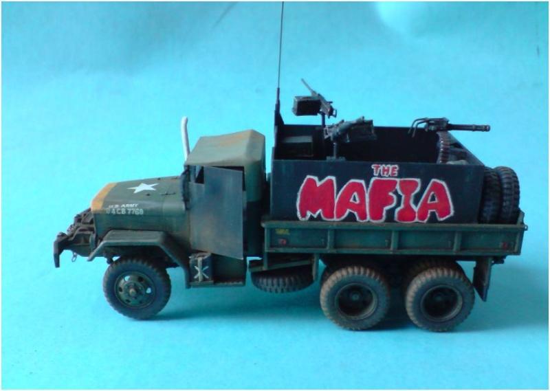 M35 Gun Truck , Academy+scratch 1/72 00113