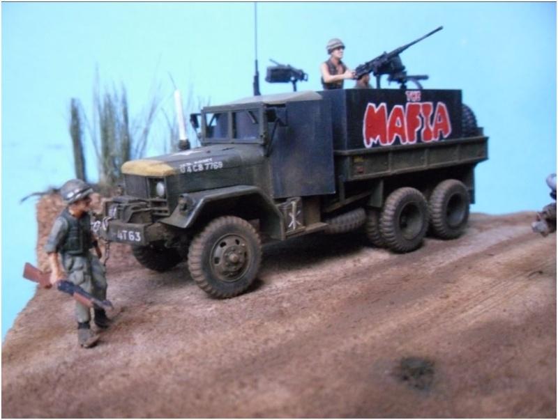 M35 Gun Truck , Academy+scratch 1/72 00314