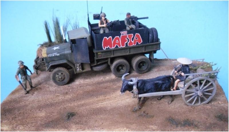 M35 Gun Truck , Academy+scratch 1/72 00510