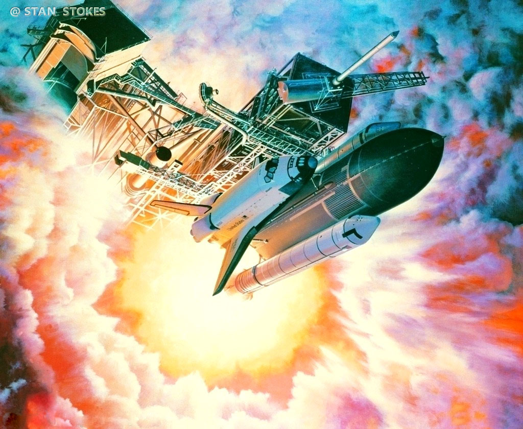 Image; peinture decollage shuttle Aaa18
