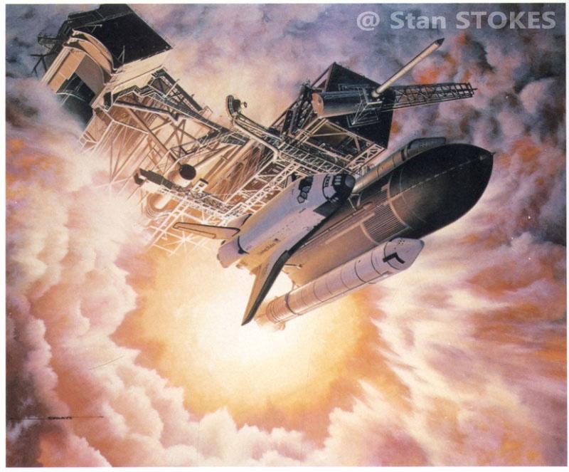 Image; peinture decollage shuttle Aaa19