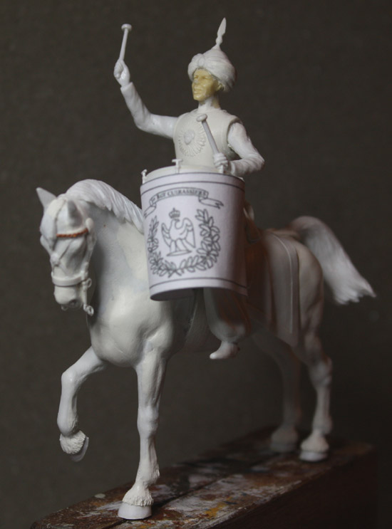 Un timbalier de cuirassiers sous l'Empire. Timb-c29