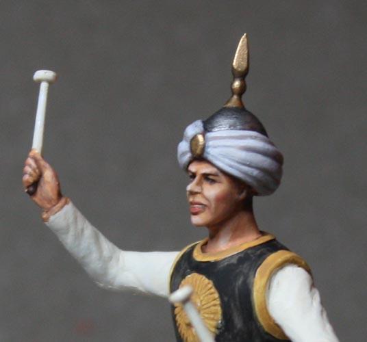 Un timbalier de cuirassiers sous l'Empire. Timb-c30