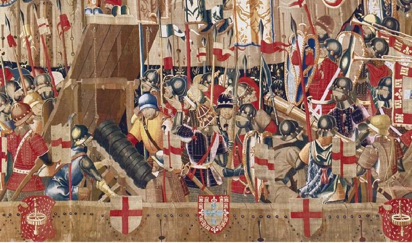 Les tapisseries tournaisiennes de Pastrana (15ème siècle) Detail10