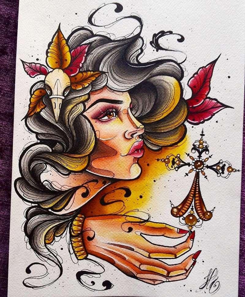 Travail  d'une future artiste tatoueuse . Beaucoup de sujets Disney .  14045310