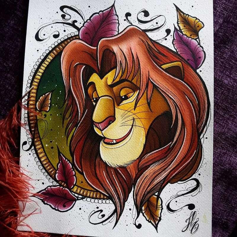 Travail  d'une future artiste tatoueuse . Beaucoup de sujets Disney .  14060110